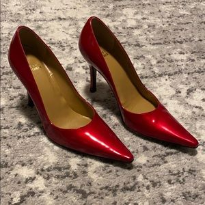 Stuart Weitzman Patent Red pumps